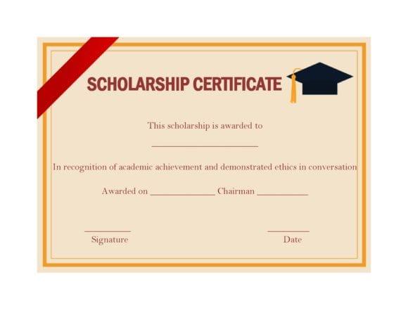 scholarship certificate 27