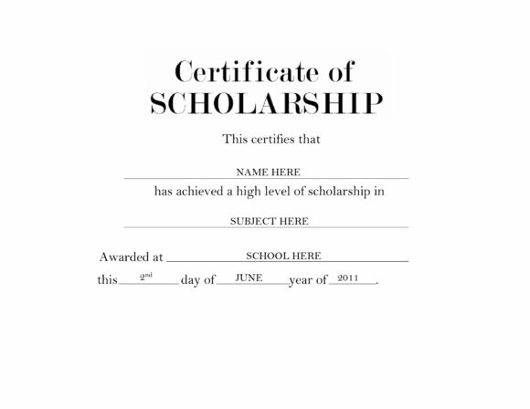 scholarship certificate 28