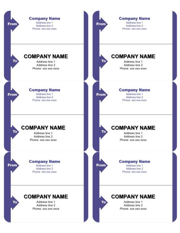 shipping label template 09