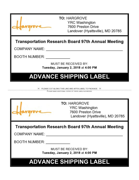 shipping label template 18