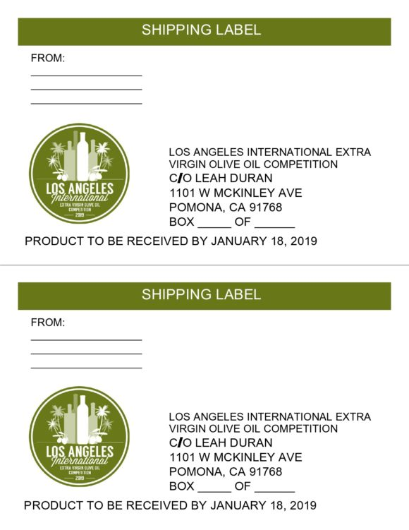 shipping label template 24