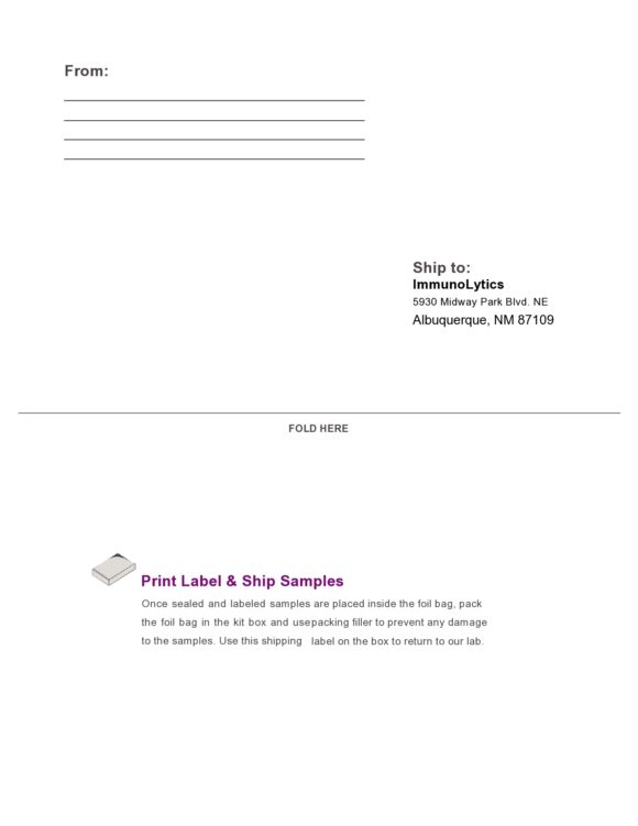 shipping label template 25
