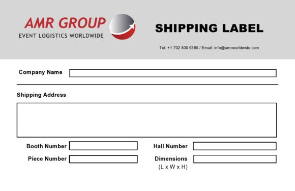 shipping label template 29
