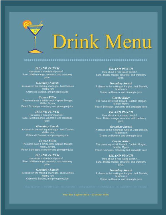drink menu template 01