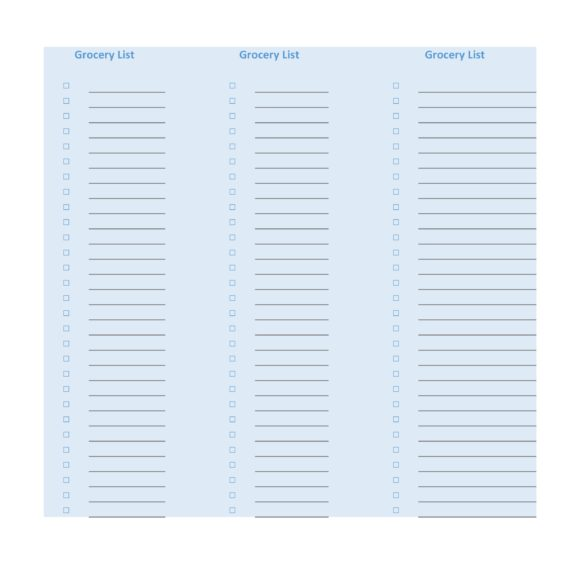 grocery list template 01