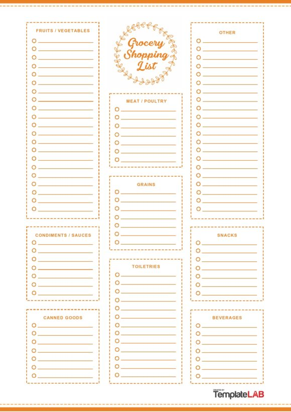 grocery list template 07