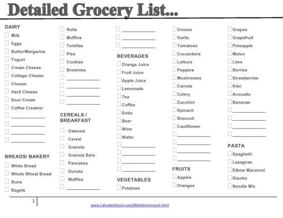 grocery list template 09