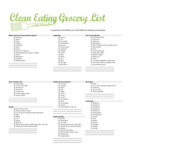 grocery list template 13