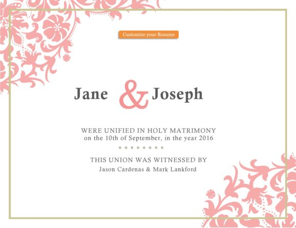 marriage certificate template 01