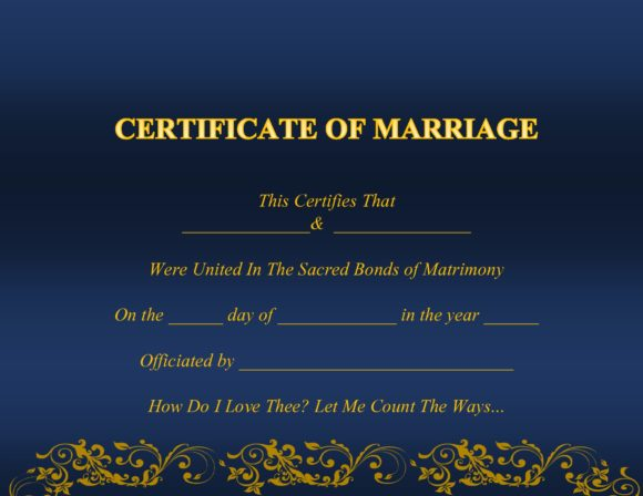 marriage certificate template 04