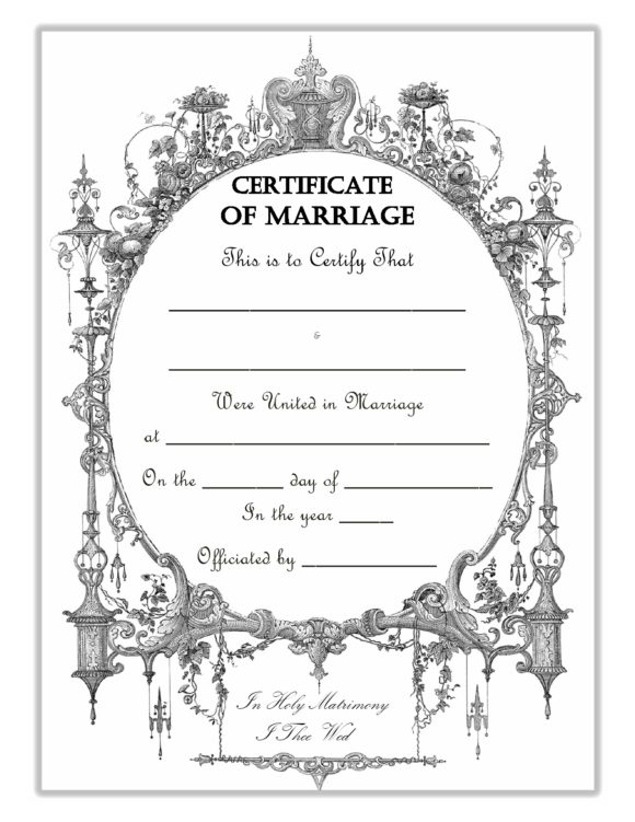 marriage certificate template 12