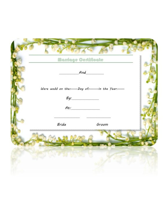 marriage certificate template 18