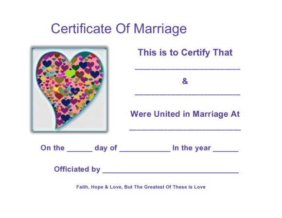 marriage certificate template 20