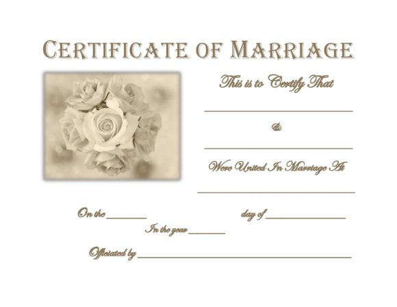 marriage certificate template 22