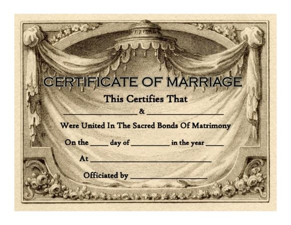 marriage certificate template 23