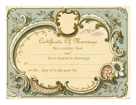 marriage certificate template 24
