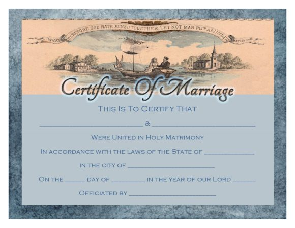 marriage certificate template 26