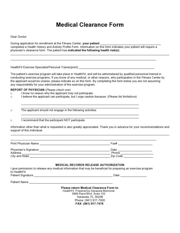 medical clearance form 02