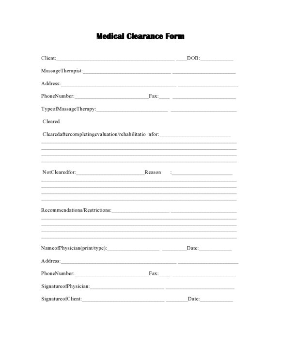 medical clearance form 09