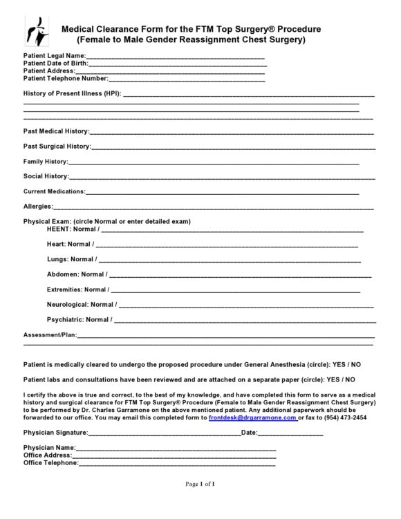 medical clearance form 15