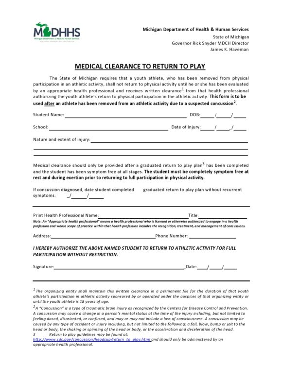 medical clearance form 24