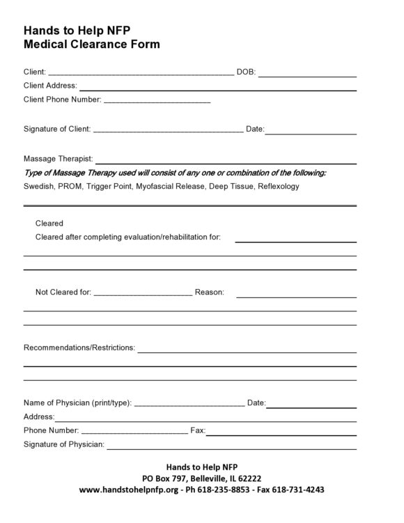 medical clearance form 27