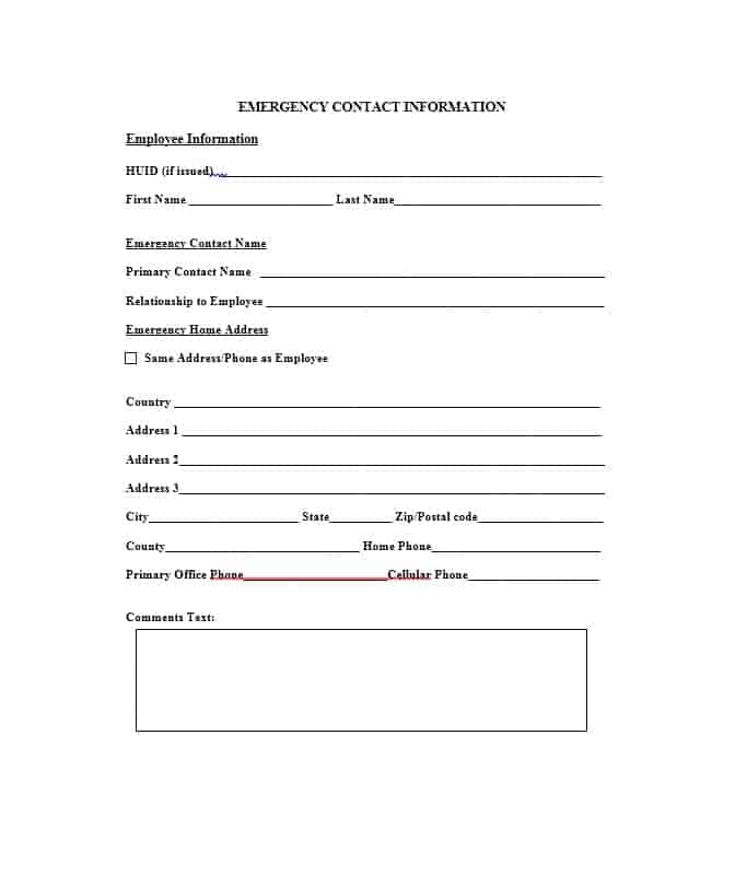 Emergency Contact Form 01
