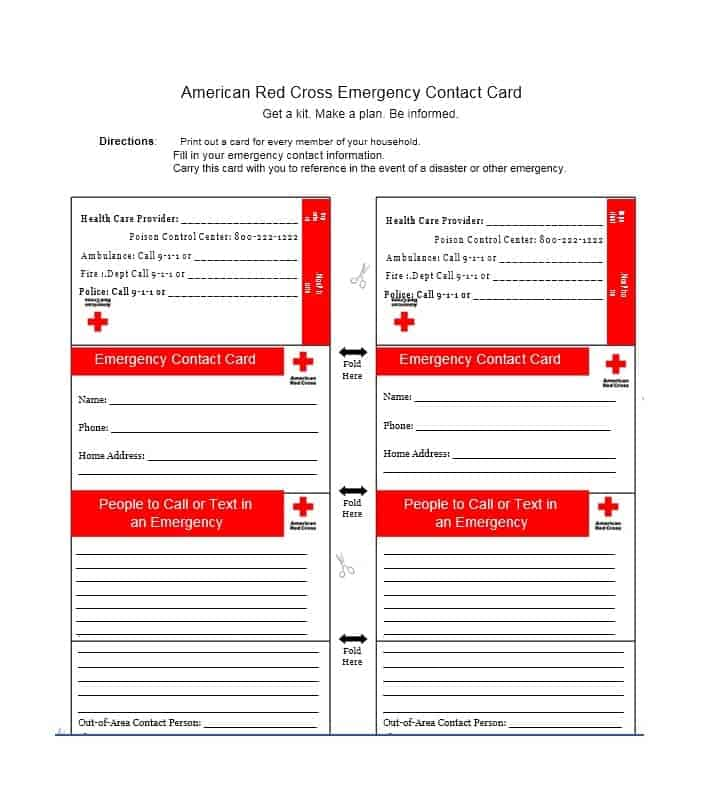 Emergency Contact Form 04