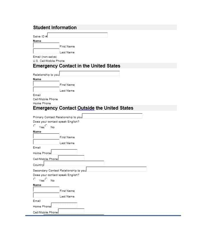 Emergency Contact Form 11