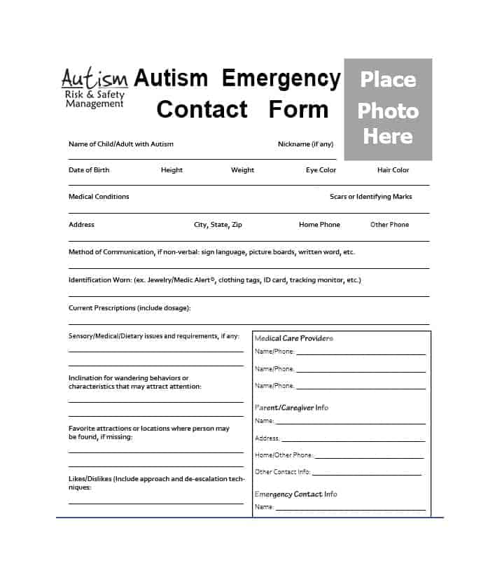 Emergency Contact Form 21