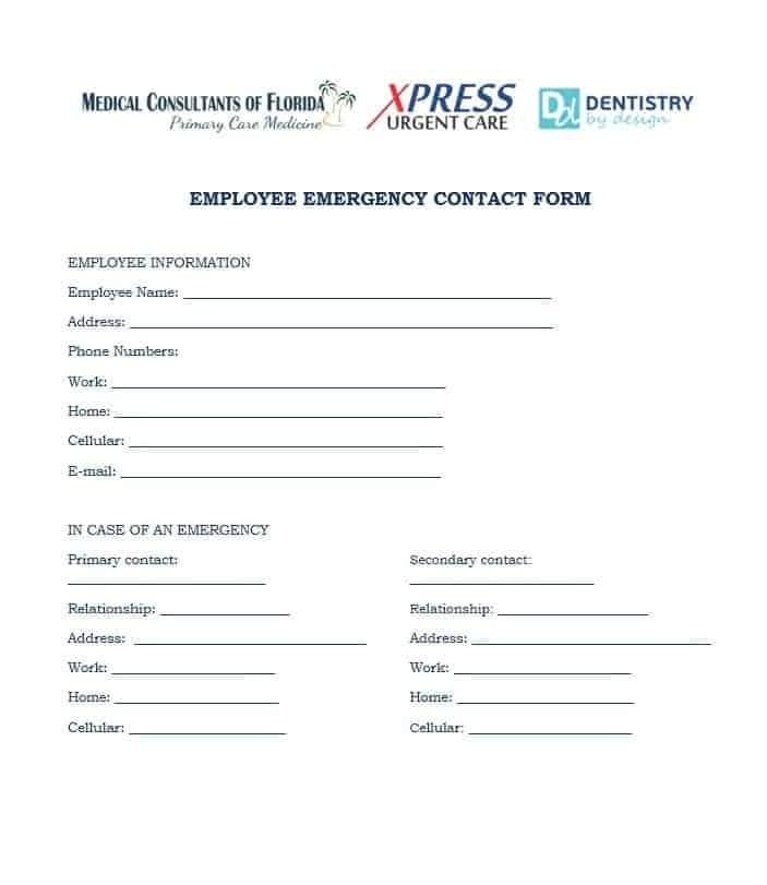 Emergency Contact Form 38