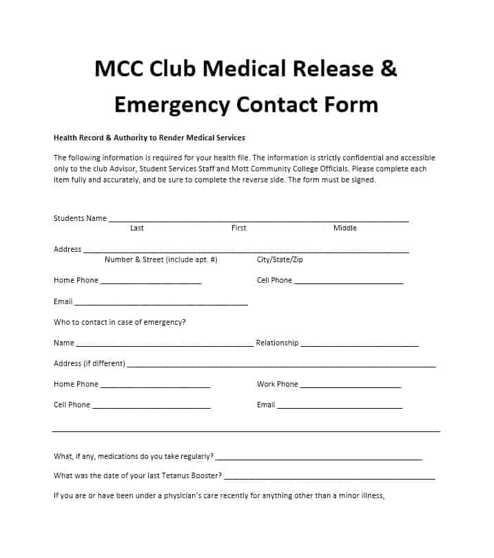 Emergency Contact Form 41