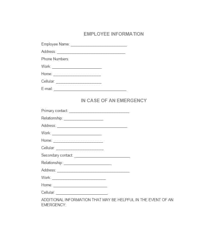 Emergency Contact Form 48
