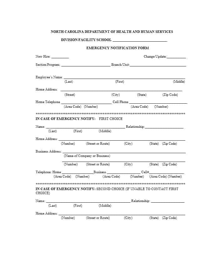 Emergency Contact Form 54