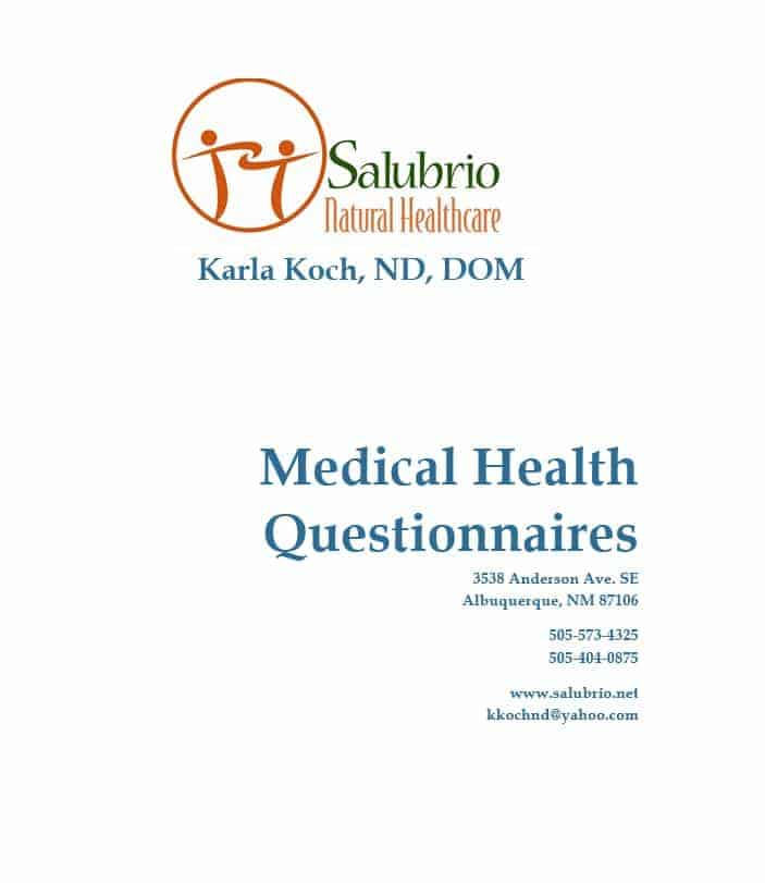 Health History Questionnaire Template 29