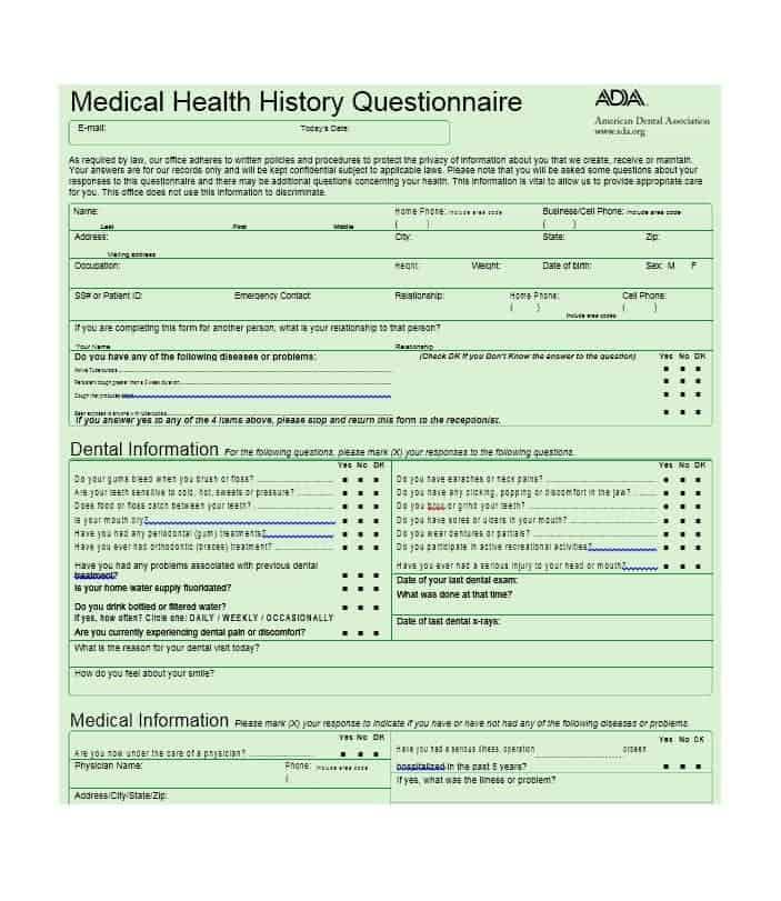 ada medical history form ecza productoseb co