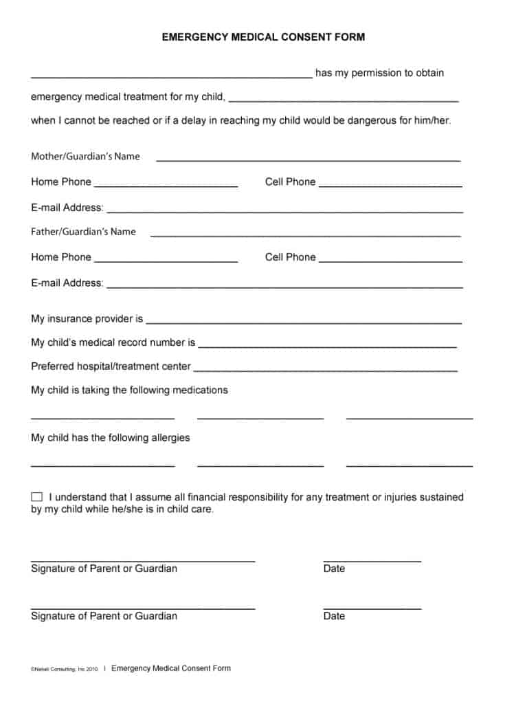 Epic image throughout free printable child medical consent form
