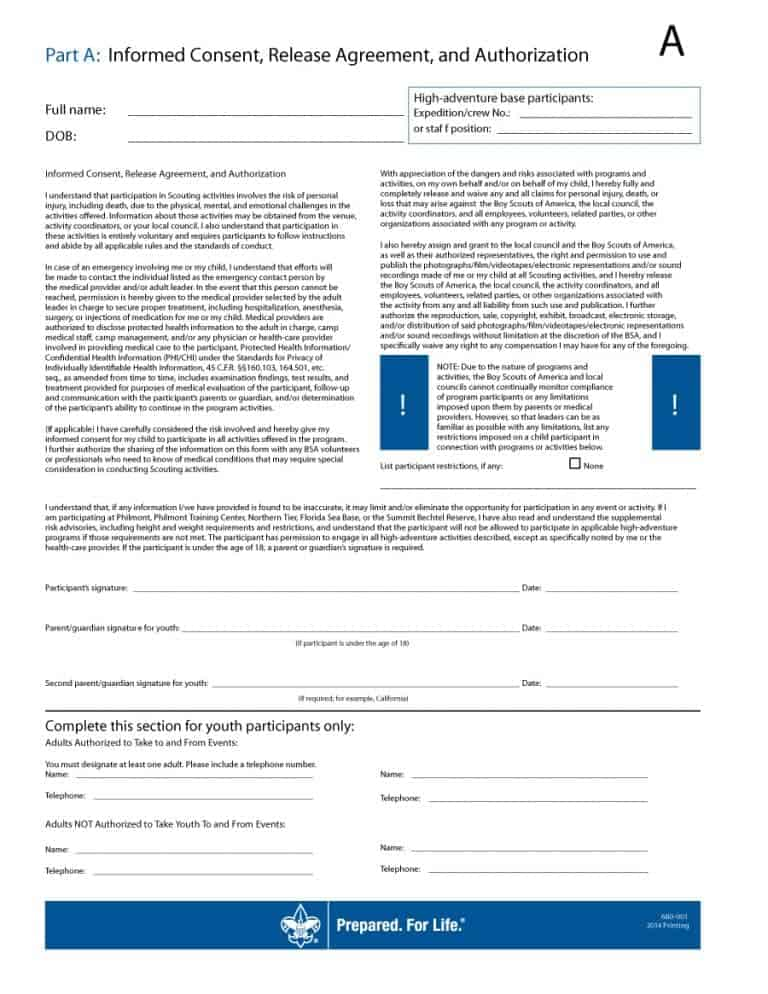 medical consent form 16