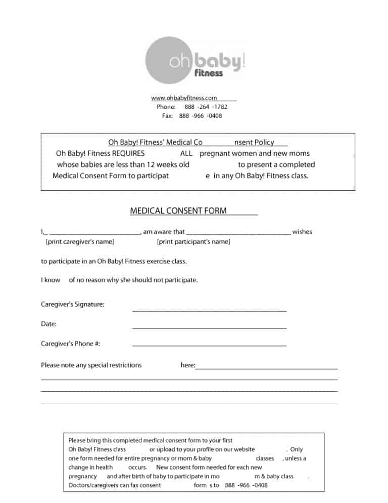 medical consent form 19