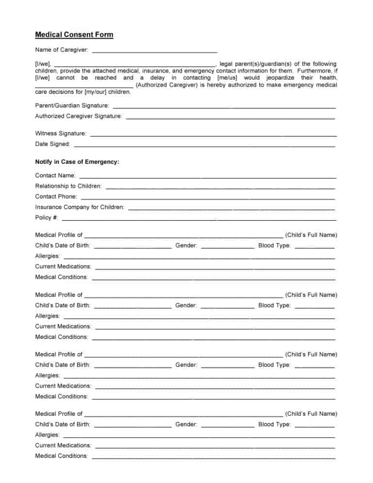 medical consent form 23