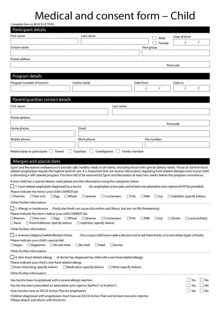 medical consent form 28