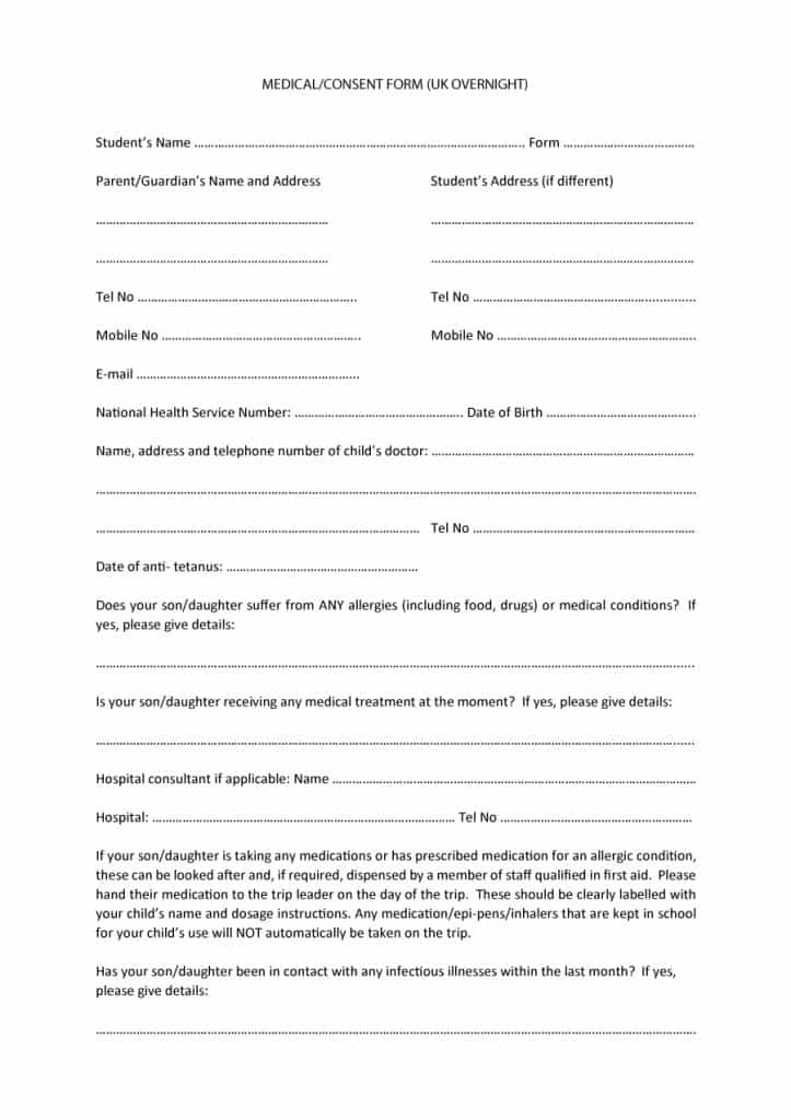 medical consent form 30