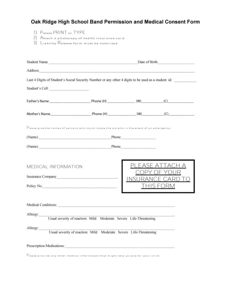 medical consent form 34