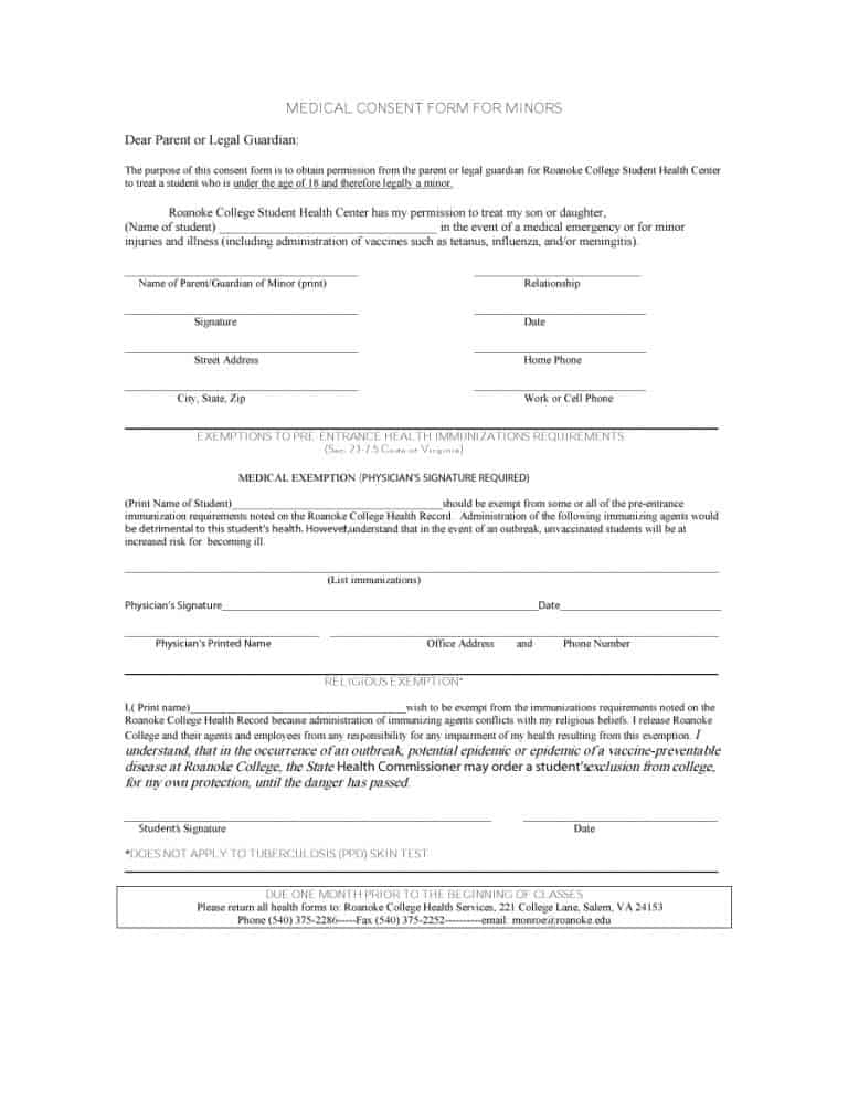 medical consent form 35
