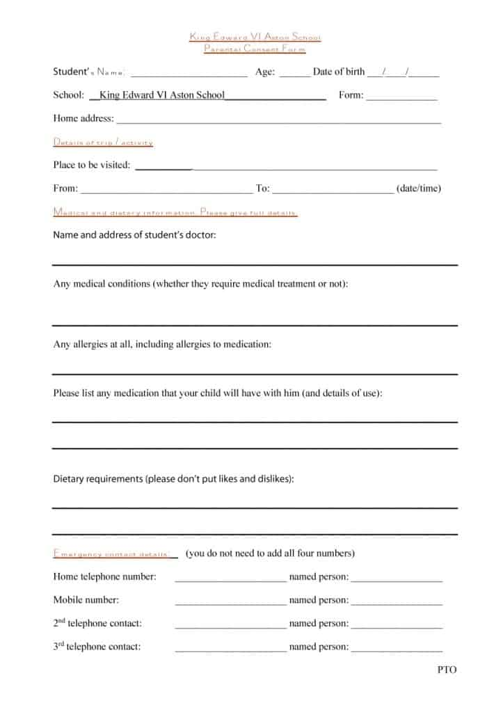 medical consent form 36