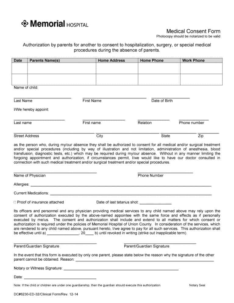 medical consent form 37