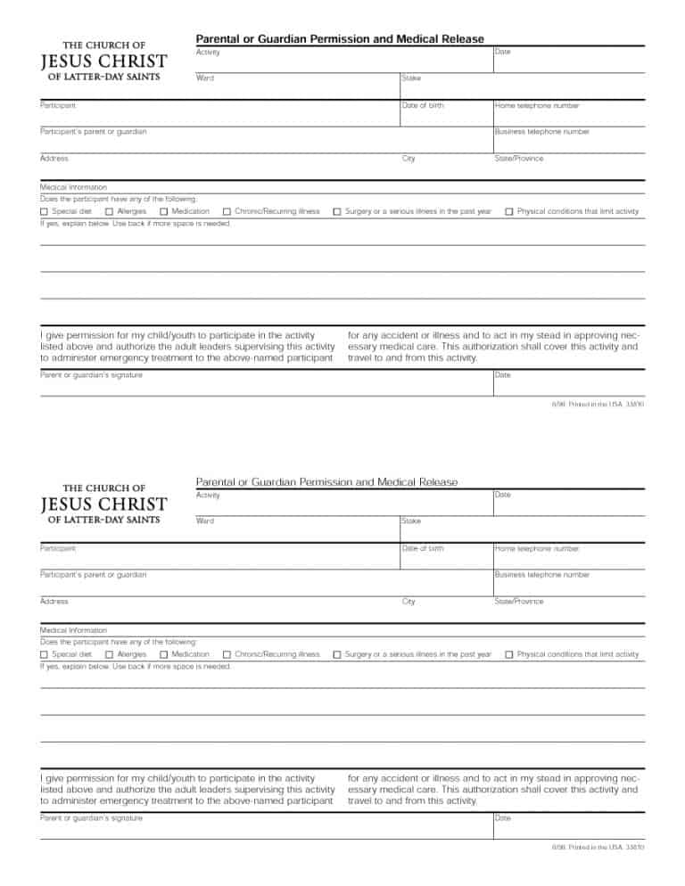 45 Medical Consent Forms (100% FREE) - Printable Templates