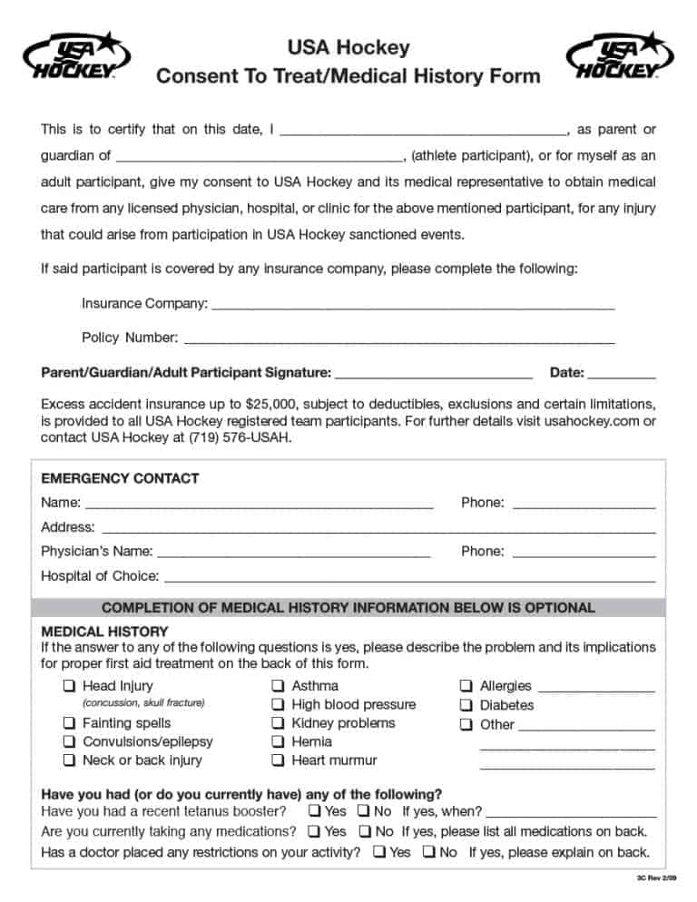 Consent To Treat Forms A Download Child Medical Consent Form Sample