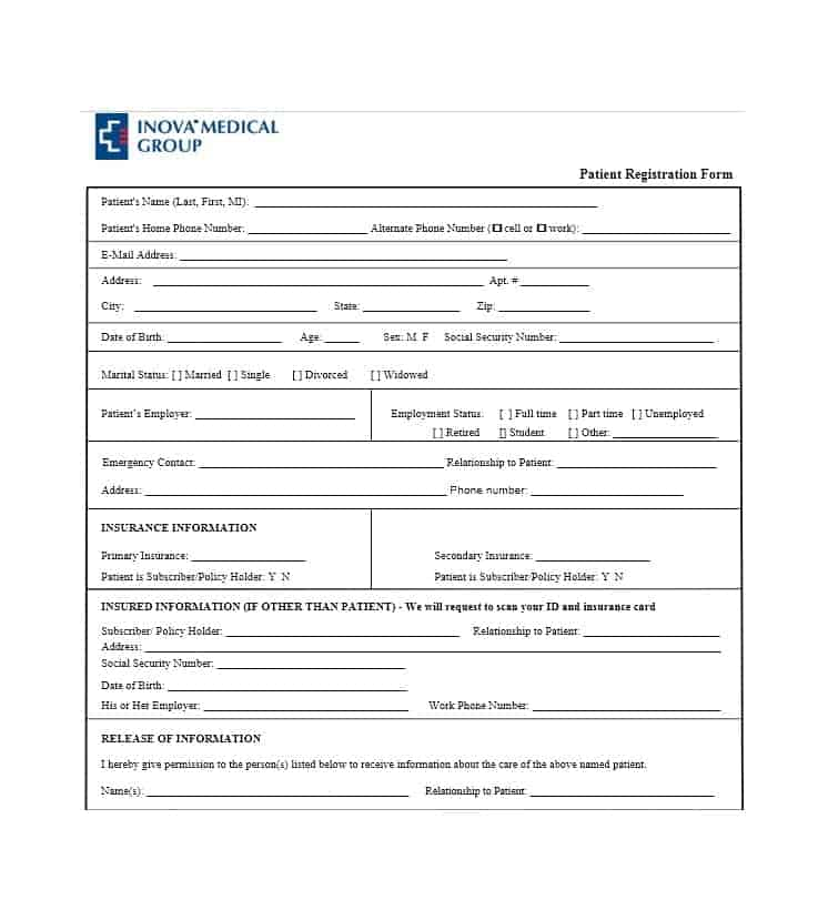 44 new patient registration form templates printable templates patient registration form 02 maxwellsz