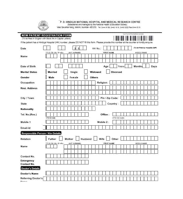 Patient Registration Form 04